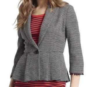 ANTHRO TABITHA Blazer Gray White Pink Size M